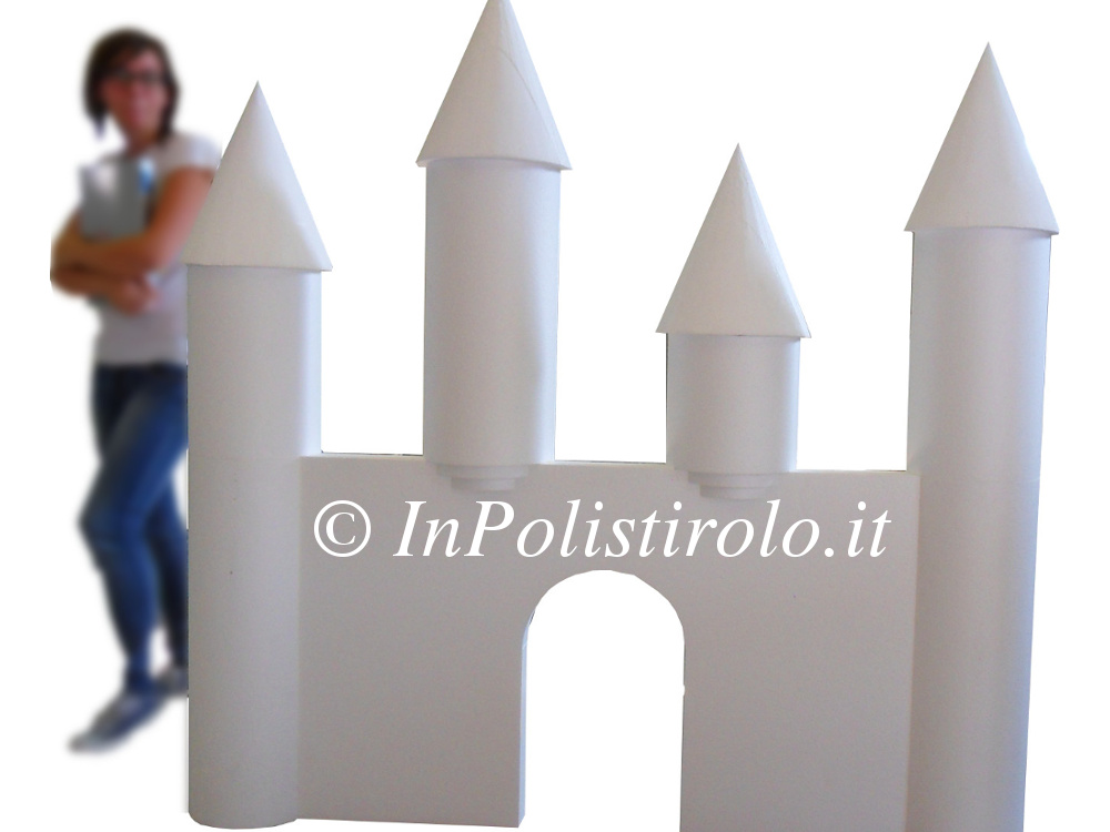 castello grande vetrina inpolistirolo