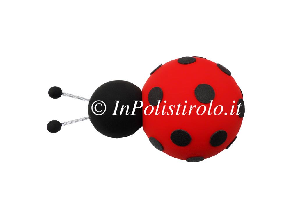 coccinella 3d polistirolo