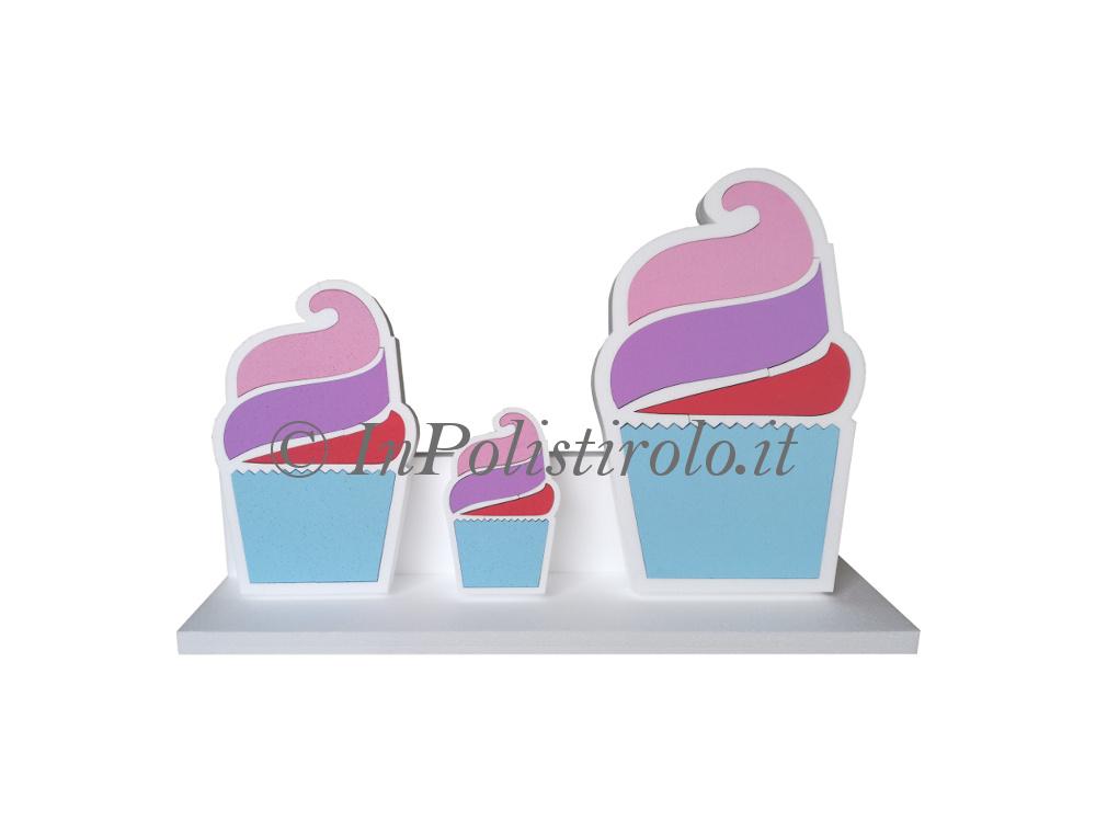 cupcake 3d inpolistirolo