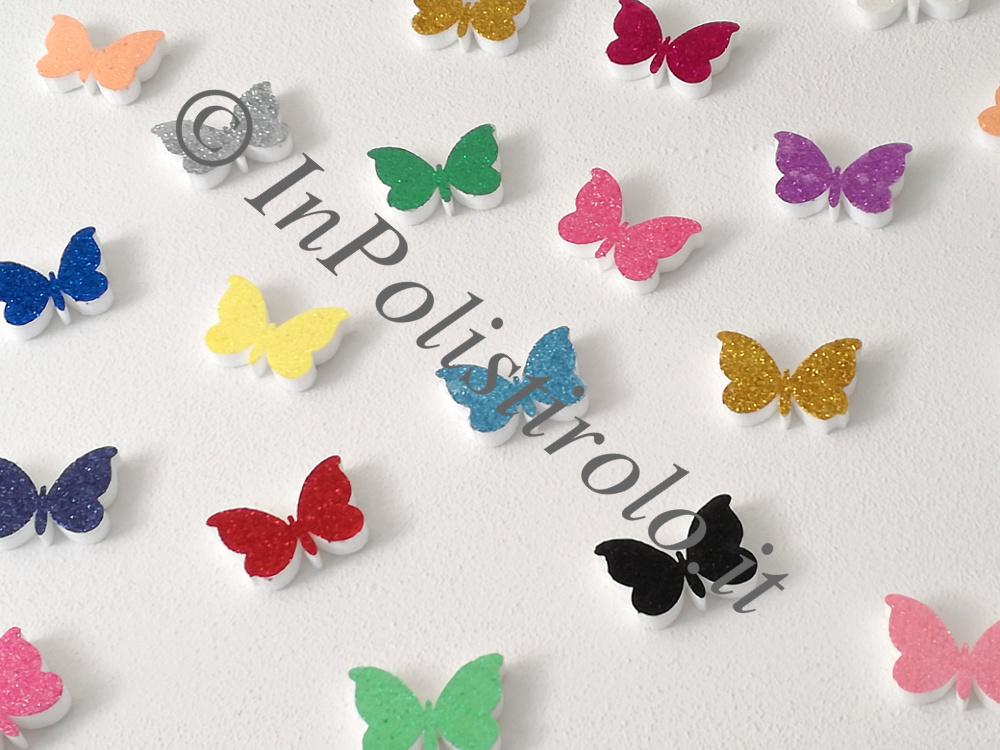 farfalle polistirolo muro