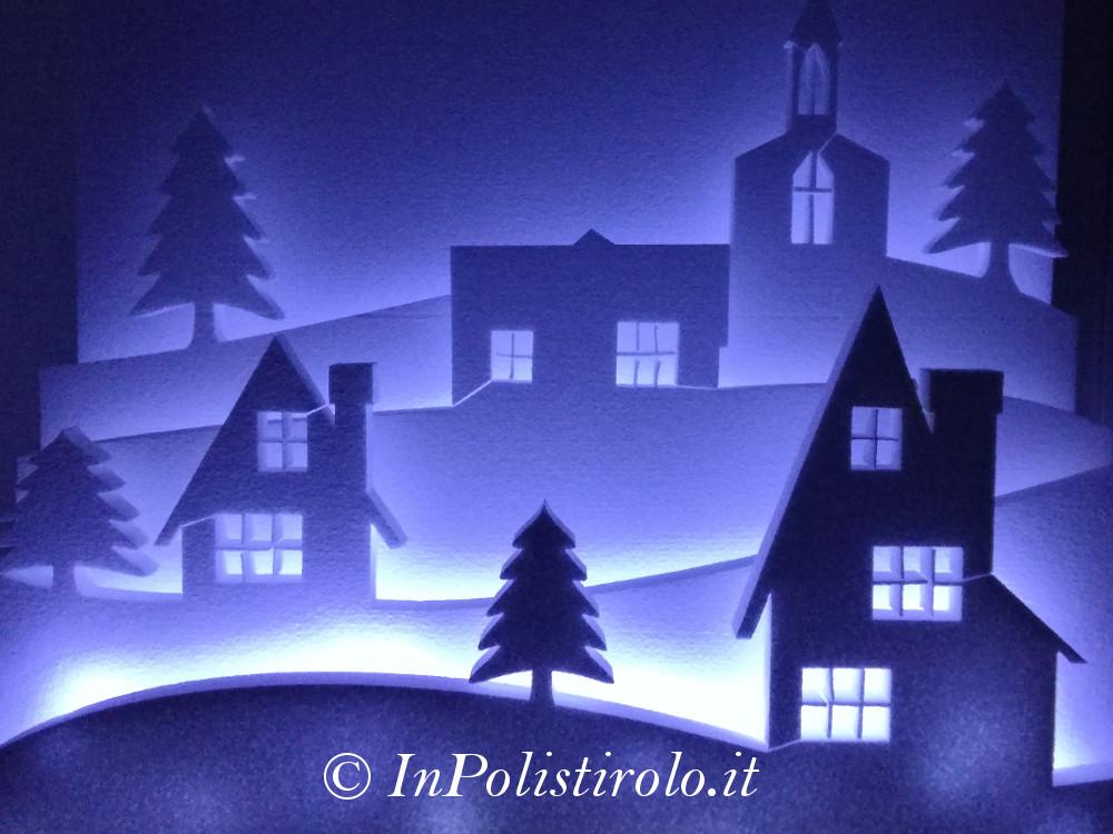 paesaggio natalizio allestimento inpolistirolo