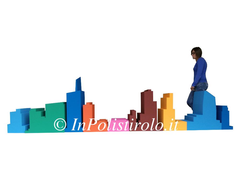 skyline inpolistirolo allestimento