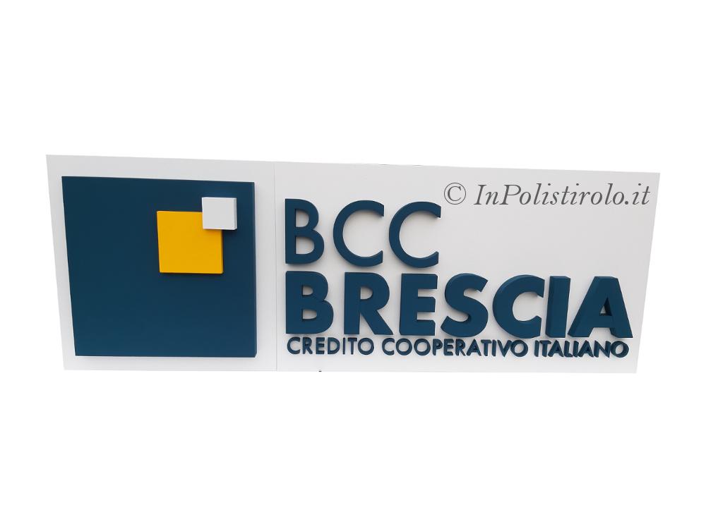 bcc logo 3d inpolistirolo