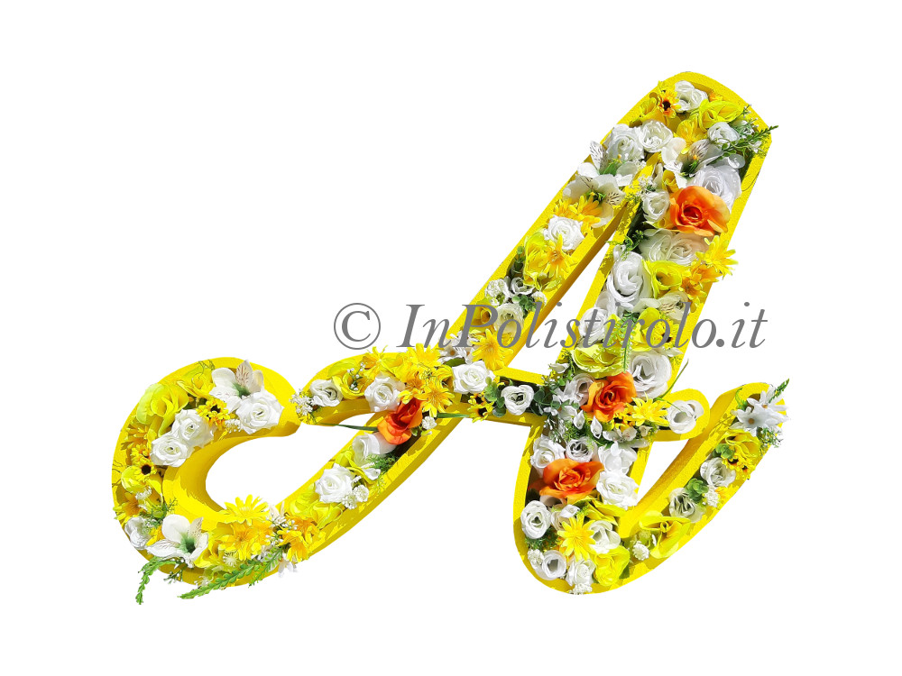 lettere con fiori inpolistirolo