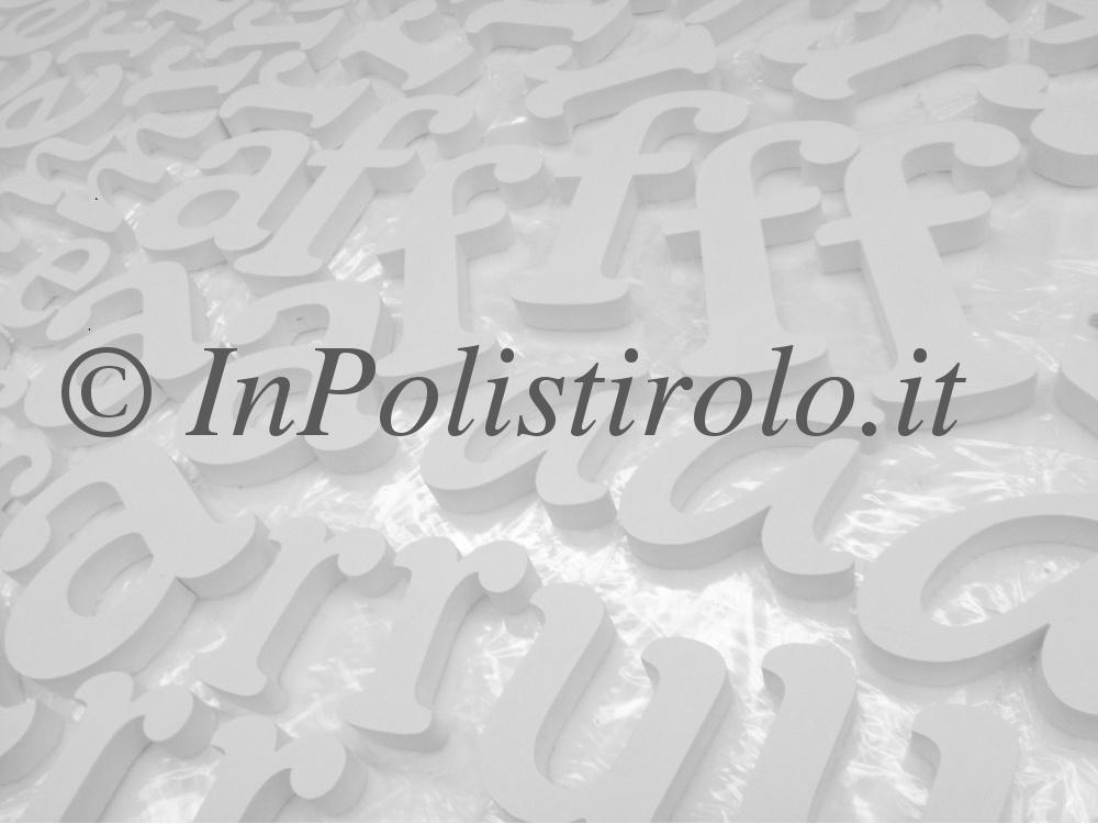 lettere inpolistirolo verniciate