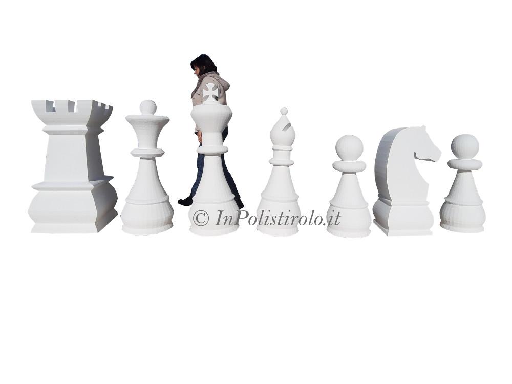 scacchi gigant 3d inpolistirolo