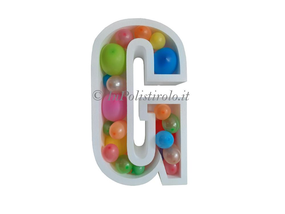 scritta polistirolo contenitore palloncini