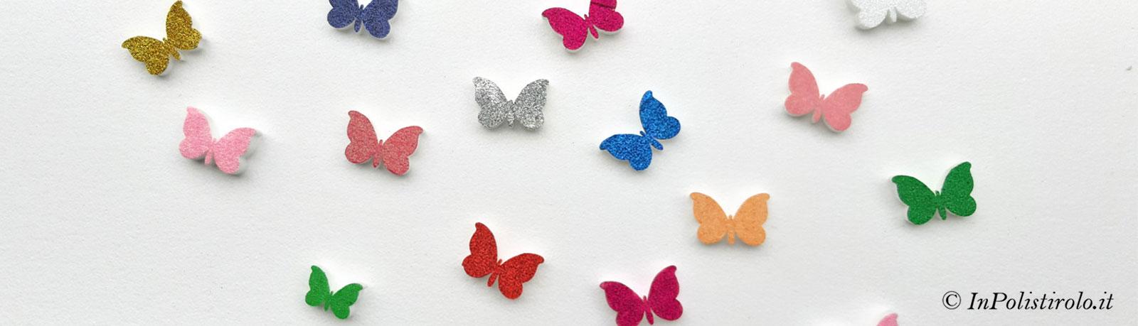 farfalle 3d decorazione inpolistirolo